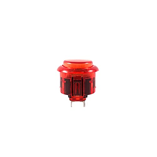TX GIRL 20 Piezas 30 Mm 24 Mm No LED Transparent Arcade Button Arcade DIY Kit para Juegos De Arcade Jamma Arcade SANWA Reemplazo SANWA (Color : 24mm Red)