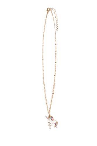 URAQT Mädchen Halskette Einhorn, Kinder Halskette Einhorn für Mädchen Einhorn Geschenk für Teen Kinder Weihnachten das Erntedankfest Halloween