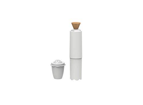 Biesse Casa cremafacile, crèmekleurig maker met houten knop en spice dispenser