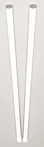 "2 Pcs 3 8"" Diameter x 36"" INCH Long Clear Acrylic PLEXIGLASS Lucite Plastic Rod - .375  Dia - 9.5mm"