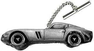 Super Sports Classic Car GTO 250 ref68 effetto peltro design su una spilla con catena