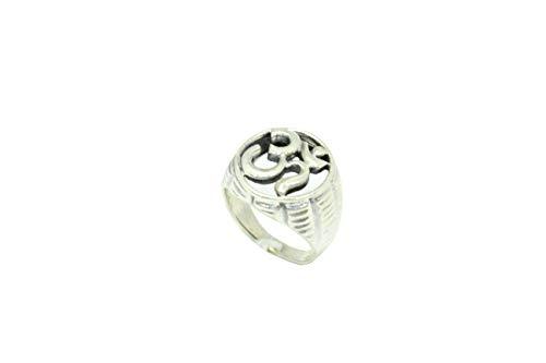 PH, anello da uomo realizzato a mano in argento Sterling 925 massiccio Aum Om buddista meditazione yoga