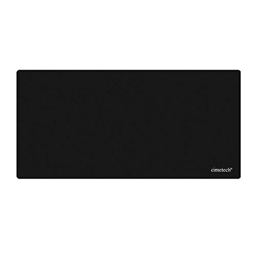 cimetech Tapis de Souris Gaming XXL(645x315x1mm) Tapis de Souris Confortable avec Base en Caoutchouc antidérapante et Surface Lisse pour PC et Ordinateur Portable, Large - Noir(XXLarge 1PCS,Noir)