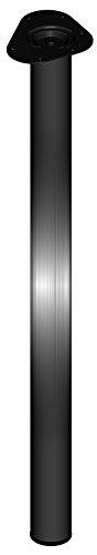 Element System 4 stuks stalen buispoten rond, tafelpoten, meubelpoten inclusief aanschroefplaat 90 cm zwart