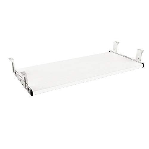 FRMSAET Furniture Accessories Office Product Suits Hardware 20/24/30 inches Keyboard Drawer Tray Wood Holder Under Desk Adjustable Height Platform. (30 inches, White)