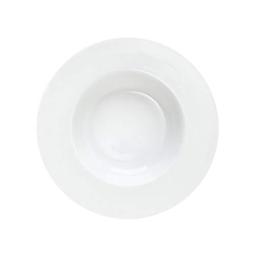 BUTLERS Puro Klassischer tiefer Teller aus Qualitätsporzellan 24x24cm in Weiß - Suppenteller, Porzellanteller - Service