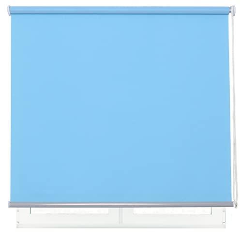 DALINA Estor Enrollable para Ventana Translúcido Liso de Poliéster (Celeste, 105x180cm)