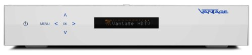 Vantage HD 8000s BlueIce 500GB digitaler HD Satelliten-Receiver (CI Slot, 500GB Festplatte, Twin Tuner) weiß
