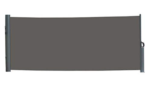 vanvilla Seitenmarkise Sichtschutz Sonnenschutz Windschutz Markise Seitenwand Anthrazit 120x300 cm