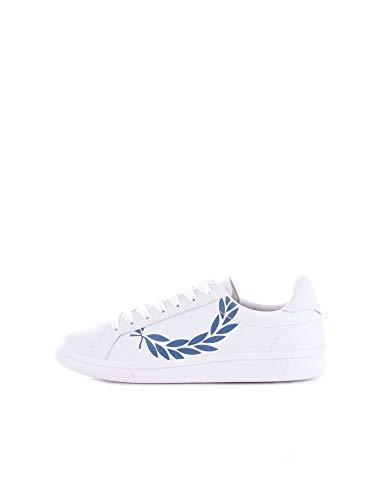 Fred Perry B4231 Sneakers Uomo Bianco/Blu 6.5
