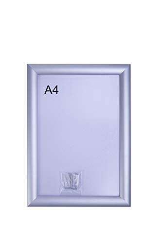 BGFint Klapprahmen DIN A4 Aluminium Plakatrahmen Wechselrahmen 25mm Profil Ecken auf Gehrung