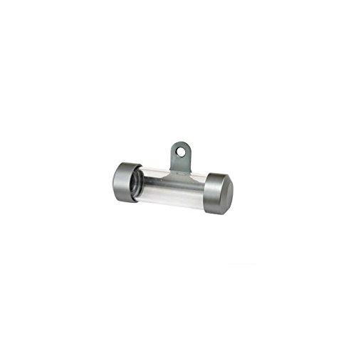 Teknix houder voor zekeringsplaketten, aluminium, cilindervormig, grijs, voor motorfietsen en scooters