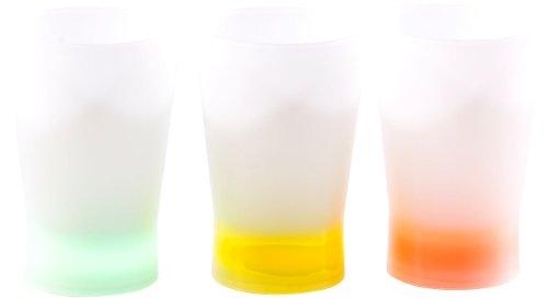 infactory Leuchtende Knicklicht-Shot-Gläser in Hellblau, Gelb & Orange
