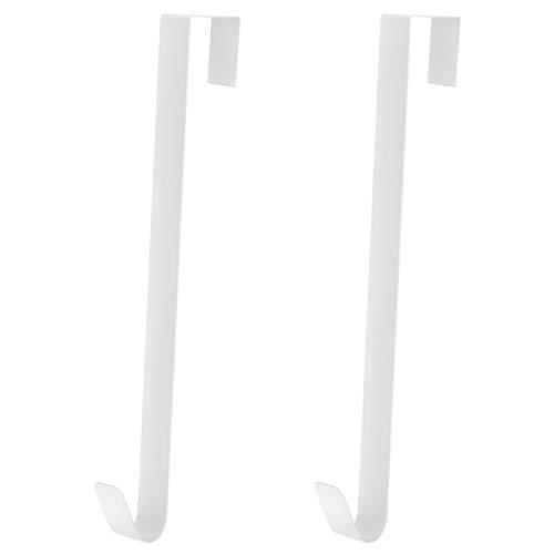 Kranz Aufhänger 2 Stücke 38cm Metall Kranzhaken für Haustür - Hochzeit Tür Haken für Innen und Außen Weihnachtskranz Dekor (Weiß)