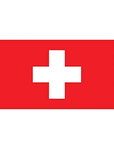 "TrendClub100® Fahne Flagge ""Schweiz Switzerland CH"" - 150x90 cm / 90x150cm"