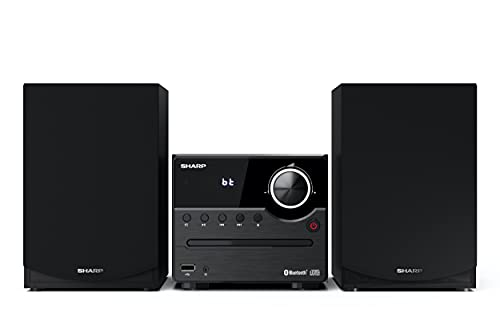 Sharp XL-B512(BK) Microcadena Sound System estereo con radio FM, Bluetooth v5.0, CD-MP3,...