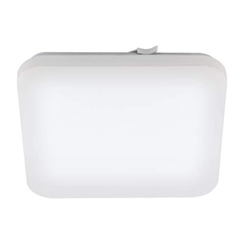 EGLO LED Badezimmer-Deckenlampe Frania, 1 flammige Deckenleuchte, Material: Stahl, Kunststoff, Farbe: weiß, L: 33 cm, IP44
