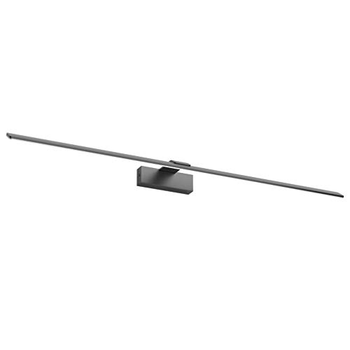 Klighten LED Badleuchte,30W 180 LEDs Spiegellampe Spiegelleuchte,Natürliches Weiß 4500K,Aluminium Badlampe,Schranklampe Aufbauleuchte,1000mm,Schwarz