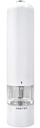 dretec(ドリテック) 電動ペッパーミル 電動式 片手 自動 ライト付 ウェスタ PM-105WT(ホワイト)