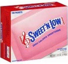 Sweet 'N Low Granulated Sugar Substitute 100 Packets (2 Pack)