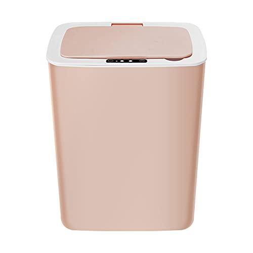 LGLE Bote de Basura de InduccióN Inteligente,Cubo Basura Automatico Carga USB Inteligente para el Hogar de 14L para la Madre Parte de Limpieza FáCil del Hogar,B
