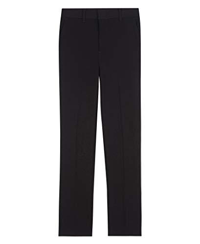 Arrow 1851 Boys Aroflex Stretch Flat Front Dress Pant, Black, 18 Husky