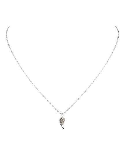 SIX Filigrane Halskette aus 925er Silber mit Engelsflügel-Anhänger, Strasssteinchen (386-402)