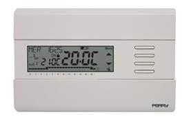 Perry 1CRCR311B - Cronotermostato digital montaje pared alimentación 3 V color blanco