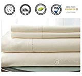 500 Thread Count 100% Cotton Sheet Set (Ivory, Twin) 3 Pieces Sheet Set. Long Staple Combed Pure Natural Cotton Bedsheet, ...
