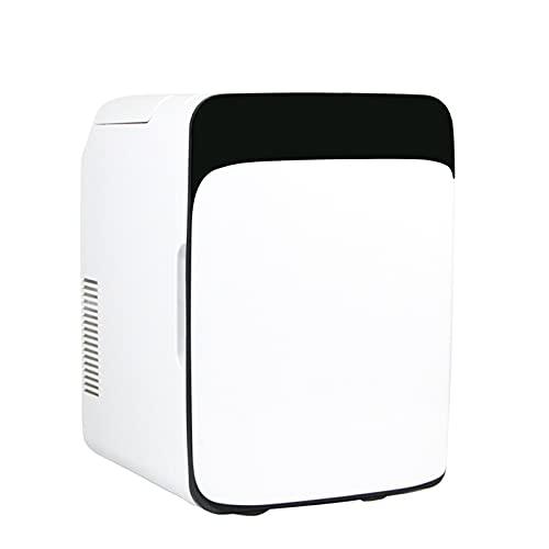 JFIOSD Mini Nevera De 10 litros, Refrigeradores Portátiles 2 En 1 con Función De Refrigeración Y Calefacción, Pequeño Congelador para Coche, Camping, Camión, Oficina, Toma De 220V Y 12V