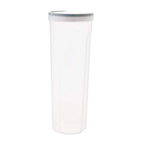 Caja de almacenamiento de alimentos, plástico, transparente, con tapa, precinto para fideos, botellas, protección para espaguetis, vasos, granos secos, caddies de té (color: azul claro, tamaño: L)