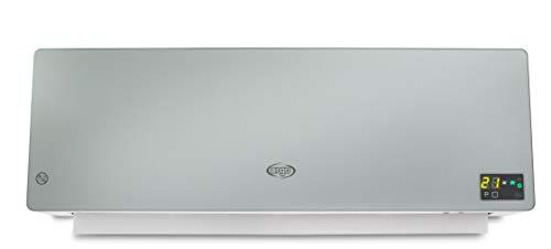 Argo Chic Silver Termoventilatore Ceramico a Parete, 2000 watt, Con Timer Settimanale,...