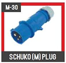 Model M30 32/3 SHUCKO Male Plug