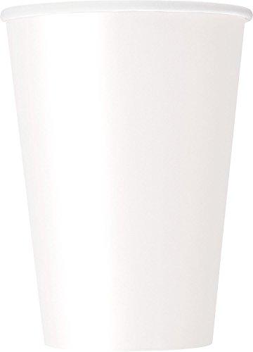 Papierbecher - 355 ml - Weiß - 10er-Pack