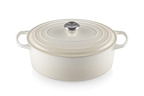 Le Creuset Enameled Cast Iron Signature Oval Dutch Oven, 6.75 qt., Meringue