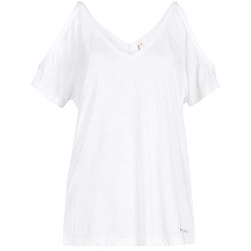 Rip Curl Damen Salty Cold Shoulder Short Sleeve Ss Tee Shirt L weiß