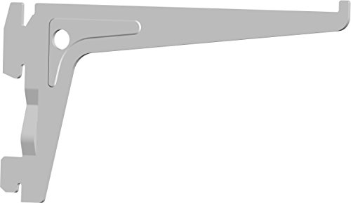 Element System 18133-00000 PRO-Träger Regalträger 1-reihig / 2 Stück / 7 Abmessungen / 3 Farben/L = 15 cm/weiß/für Regalsystem/Wandschiene