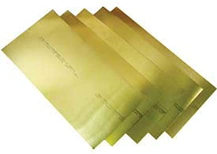 Mill Unpolished 260 Brass Sheet H02 Temper 0.012 Thickness Finish ASTM B19//ASTM B36 12 Width 120 Length