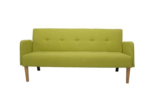 Italfrom Sofá Bed verde 173 x 85 x 83 cm con reposabrazos cama 2 plazas