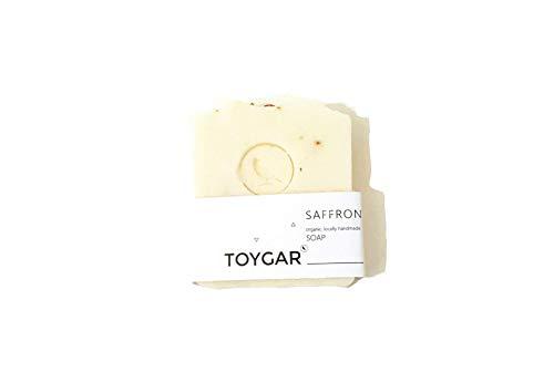 Toygar Saffron Organic Soap Bar, Luxury Saffron oil, Natural fragrance-free soap, 100% Pure Premium saffron extract, Natural soap Bar gift set for Men & Women, Face and Body Bar Soap, jabon aclarador