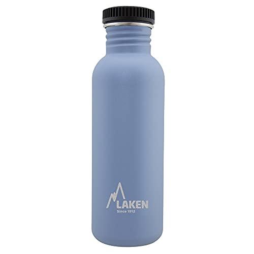 Laken Sehr Robuste Edelstahlflasche Blau Unisex-Botella de Acero Inoxidable Muy Resistente para Adultos