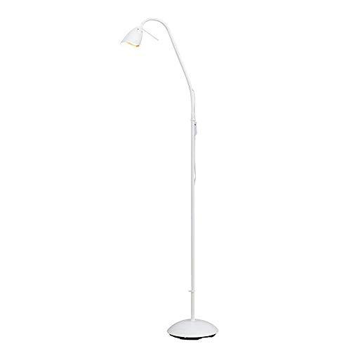 LDDBD Moderne minimalistische mode Nordic staande lamp, studie slaapkamer nachtkastje leeslamp, woonkamer moderne verticale staande lamp A +,wit, A