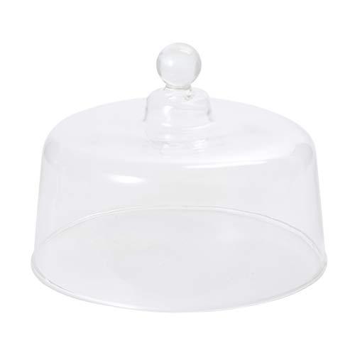 Cabilock Cloche de cristal con asa superior, tarro de campana transparente, cubierta de cristal decorativa para tartas de frutas y alimentos
