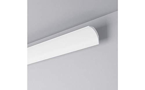 NMC Nomastyl Plus NE1 Pure Stuckleiste | 40 x 40 mm | hochwertige Deckenleiste | weiß modern | Wandleiste | einfache Montage | Styropor | leicht und stabil | Dekorativ | 10 Meter | 5 Leisten