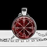Preisvergleich Produktbild Sechstes Mars-Pentakel Anhänger Defence Talisman Solomon Seals Occult Ritual Halskette Zeremonial Magick Amulett Lamen