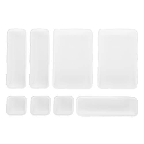 Omabeta Organizador de cajones Duradero, fácil de Limpiar, Caja de Almacenamiento de 8 Piezas para el hogar, para el Dormitorio(White)