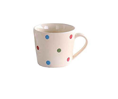 mglxzxxzc Taza De Lunares Taza De Cerámica Linda Taza De Tendencia De Personalidad Creativa Taza De Café De Desayuno De Leche para El Hogar-1