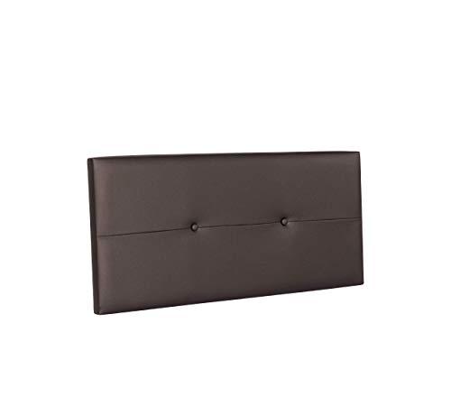 DHOME Cabecero de Polipiel o Tela AQUALINE Pro cabeceros Cabezal tapizado Cama Lujo (Polipiel Chocolate, 110cm (Camas 80/90/105))