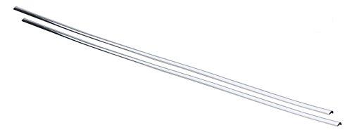 hr-imotion 12110901 Türkantenschutz silber / chrom (2x 640 mm) [L-Profil | Hochflexibel | Zuschneidbar Selbstklebend]