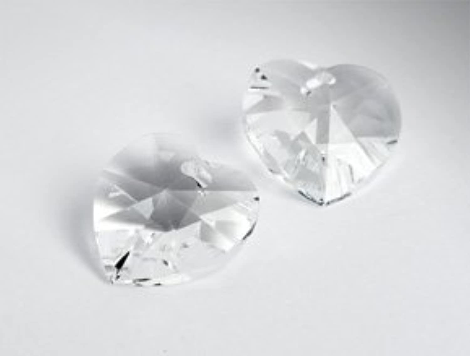 Pendant of Swarovski Elements Heart  18.0mm x 17.5mm (Crystal), 16 Pieces